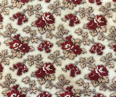 BEAUTIFUL 19th CENTURY FRENCH PROVENCAL BLOCK PRINTED COTTON c1840s/50s 106.