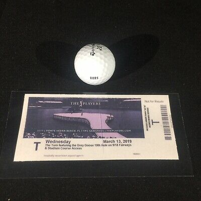 Rory McIlroy Un Signed 2019 The Players Practice Round Used Golf Ball 3-13-19