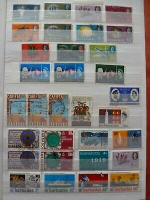 Stock Page Of 32 Barbados Stamps - Mint / Used Collection (138)