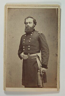 1860s CIVIL WAR GENERAL QUINCY ADAMS GILLMORE CDV PORTRAIT PHOTO By MATHEW BRADY