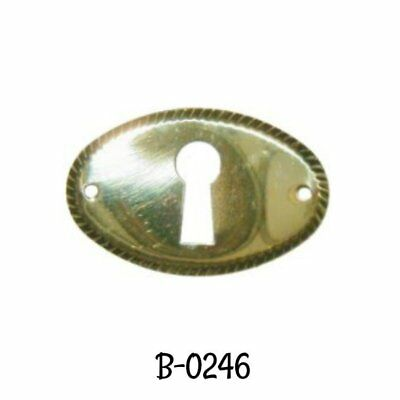 Keyhole Cover Stamped Brass Early American Style Oval Key Hole Cover Escutcheon