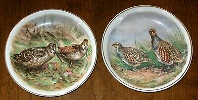 Vintage Caviar Mint Dishes Staffordshire England Crown Hunting Motiff Fine China