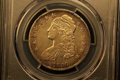 1836 Capped Bust 50c Silver XF45 Lettered Edge PCGS O-103 r.4 #36817274