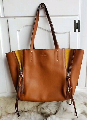 e55bcc80b CHLOE MILO MEDIUM Calfskin Caramel Brown Leather Tote Handbag EUC ...