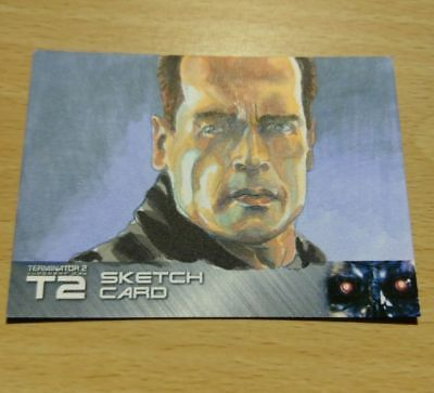 Terminator 2 T2 25 Years On B Jones Sketch Trading Card Unstoppable Cards Sk2