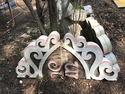 Antique 1890s Pair Wood Corbels Victorian Architectural  Brackets New Orleans