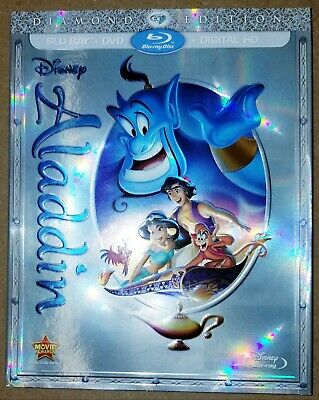 Disney's OOP Aladdin blu-ray - Like new - with slip cover, but no digital code