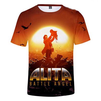 7c0c17aaa96 Hot Film Alita Battle Angel Printed Short Sleeve Tee Women Men 3D T-Shirts  Tops