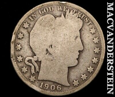 1906 Barber Half Dollar-Scarce Better Date!!  #e209