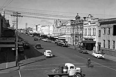 Qld TOOWOOMBA Central Business District c1948-54modern Digital Photo Postcard