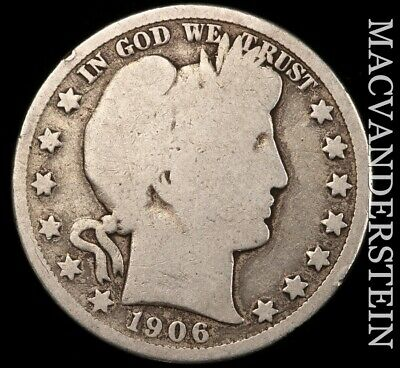 1906-D Barber Half Dollar - Scarce!!  Better Date!!  #e45