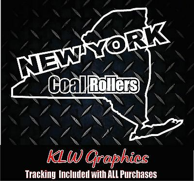 New York Coal Rollers  Vinyl Decal Sticker Powerstroke Truck Diesel Stacks 2500