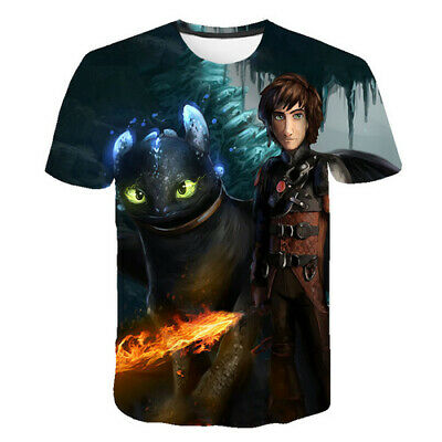 Film How To Train Your Dragon 3D Print Women Men T-Shirt Short Sleeve Shirt Tops