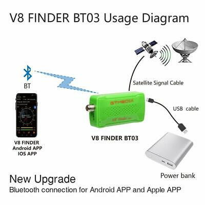 Gtmedia v8 Finder bt03 HD 1080p satfinder dvb-s2 Satellite Finder Bluetooth~~