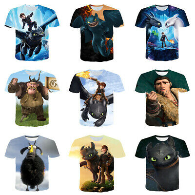 3D Print Cartoon How To Train Your Dragon Women Men T-Shirt Short Sleeve Tee Top