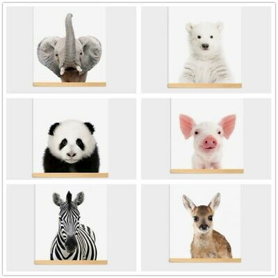 Room Picture Nordic Cartoon Animal Poster Wall Art Canvas Painting Home Decor