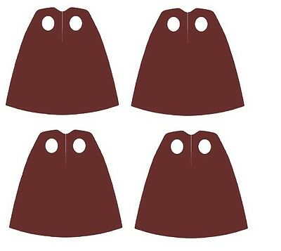 4 x (Pack of 4) Brown Capes  for Star Wars Harry Potter  Lego Minifigs NEW