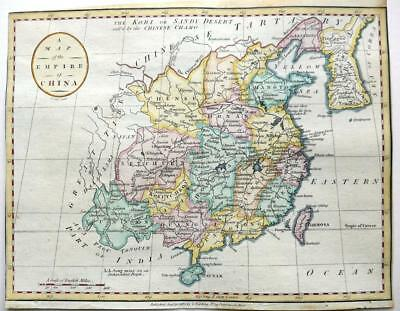CHINA KOREA  BY JOHN CARY GENUINE ANTIQUE MAP  c1784