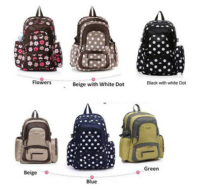High-Capacity Baby Nappy Backpack Diaper Bag with Changing Pad & Stroller Straps
