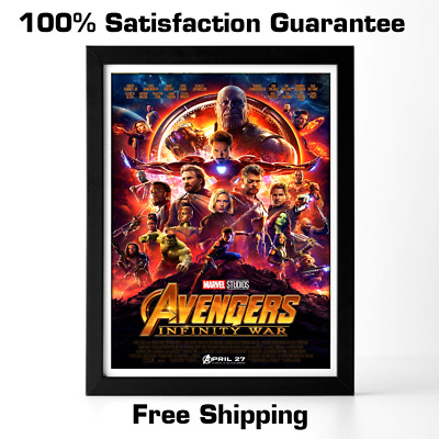 Avengers Infinity War Poster Art Marvel Comics Movie Promo Print Original 2018
