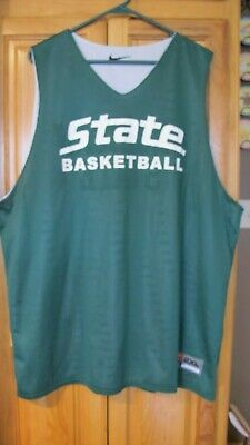 73749ed35ea Michigan State Spartans Nike Reversible Practice Basketball Jersey 2XL MSU