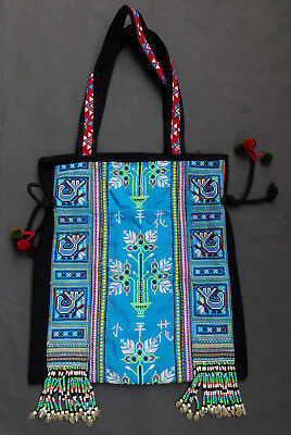 Thai Hmong Hill Tribe Shoulder Bag Embroidered Bead Handmade Bohemian  Unique  4 bc4659b21fa40