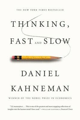 Thinking Fast and Slow Paperback by Daniel Kahneman 1st edition Decision Making