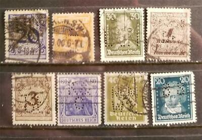 GERMANY Perfin Stamp Lot E400