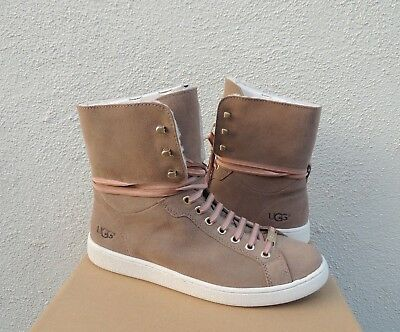 5907f2d361a UGG STARLYN FAWN Sheepskin Sneaker High Top Ankle Boots, Us 8.5/ Eur 39.5  ~Nib