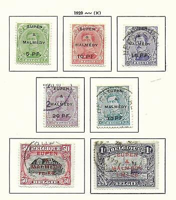 Eupen&Malmedy stamps 1920 Collection of 7 stamps HIGH VALUE!