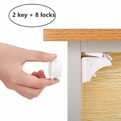 Magnetic Child Lock Baby Safety Cabinet Children Protection Kids Drawer Locker B