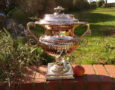ENGLISH ANTIQUE GEORGIAN REGENCY PERIOD SUPERB COPPER SAMOVAR with POURING TAP