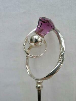 Fine Antique Hallmarked Sterling Silver Hat Pin by Charles Horner. Chester 1911