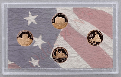 2009 S Lincoln Cent Penny Four Coin Proof Set in original case no box or coa