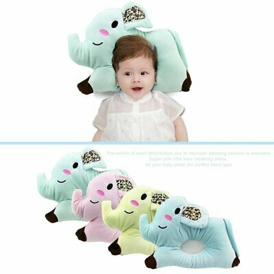 Elephant Newborn Baby Pillow Comfortable Baby Flat Head Sleeping Positi L∨