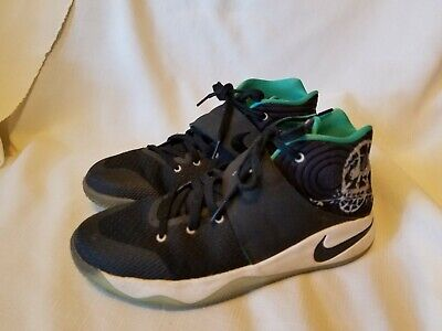 new product a3fc4 0a892 NIKE Kyrie 2 GS Skateboard Basketball Black Skull Shoes Boys Youth Size 7