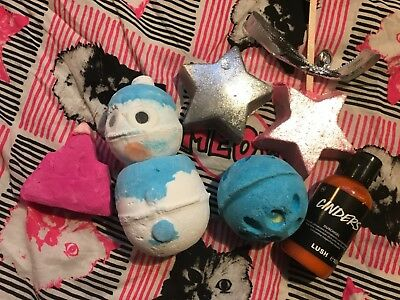 Lush Paket Badebomben * 6 Magic Wand * Snowman Bomb * Star Light Star * Cinders