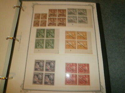Malta Block Of 4 Collection, All Mint, Mostly Mnh
