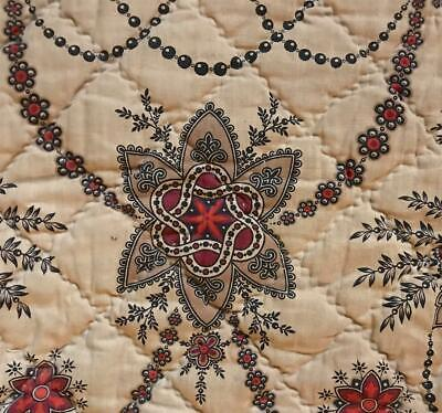 BEAUTIFUL SM PIECE 19th CENTURY FRENCH QILTED MADDER INDIENNE c1840s/50s, 116.