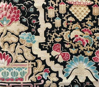BEAUTIFUL FRAGMENT 19th CENTURY FRENCH CHINOISERIE c1870s BUTTERFLIES 115