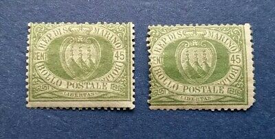 San Marino Stamps, Scott 19 Mint and Hinged with Original Gum