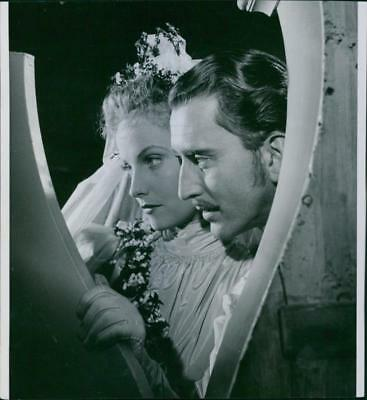 """Vibeke Falk and Lauritz Falk in a scene from the 1944 Swedish drama film, """"The C"""