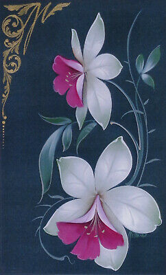 "Tricia Joiner/Misha Lebedev tole painting pattern ""Orchid Journal on Green"""