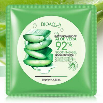 BIOAQUA Natural Aloe Vera Gel Face Mask Skin Care Moisturizing Oil Con N〡