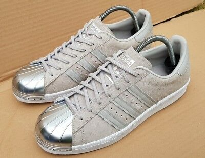 Details about BNIB ADIDAS SUPERSTAR 80'S TRAINERS GREY SUEDE POLKADOT METAL TOE IN SIZE 7 UK