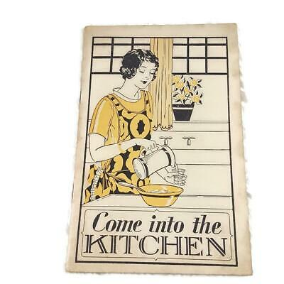 Vtg 1930 Lydia E. Pinkhan Medicine Company Recipe Booklet -Come into the Kitchen