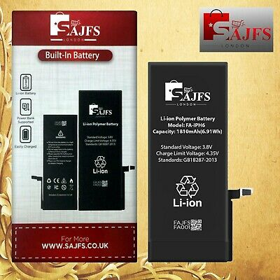 Genuine SAJFS™ Replacement Battery for iPhone 6 6G 1810mAh Full Capacity