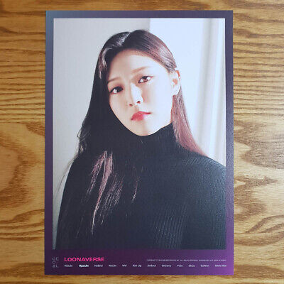 Hyunjin Loonaverse Concert Official MD Loona Mini Poster Monthly Girl Kpop