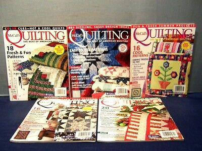 LOT of 5 McCALL'S QUILTING MAGAZINES JAN/FEB - NOV/DEC 2012 QUILT PATTERNS INFO