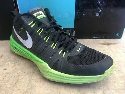 sports shoes 7cdde 01d6a Nike Lunar Tr1 Le Flywire Trainer Black White Volt Green 652808-007 Size 10